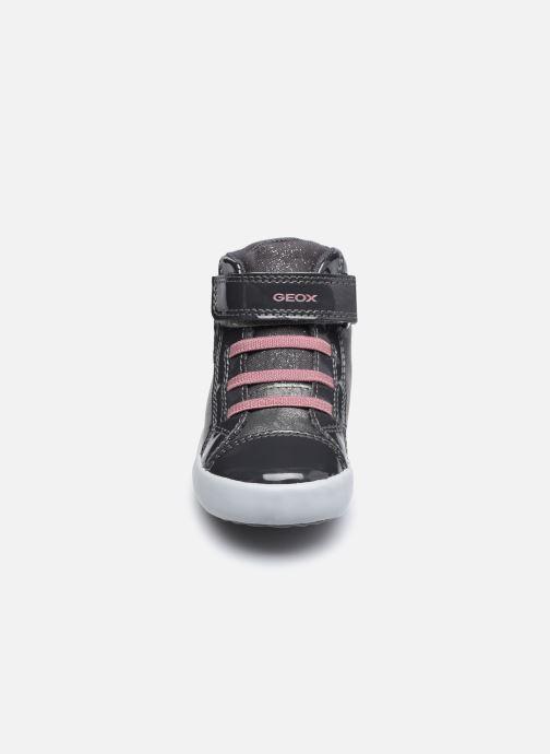 Baskets Geox B Gisli Girl B041Ma Gris vue portées chaussures