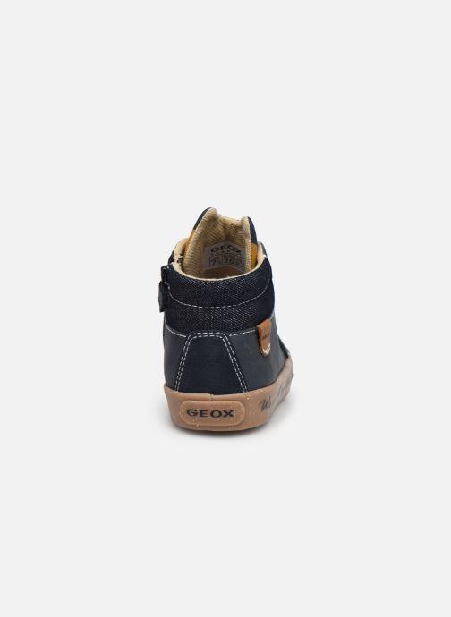 Sneaker Geox B Kilwi Boy B04A7D x WWF blau ansicht von rechts