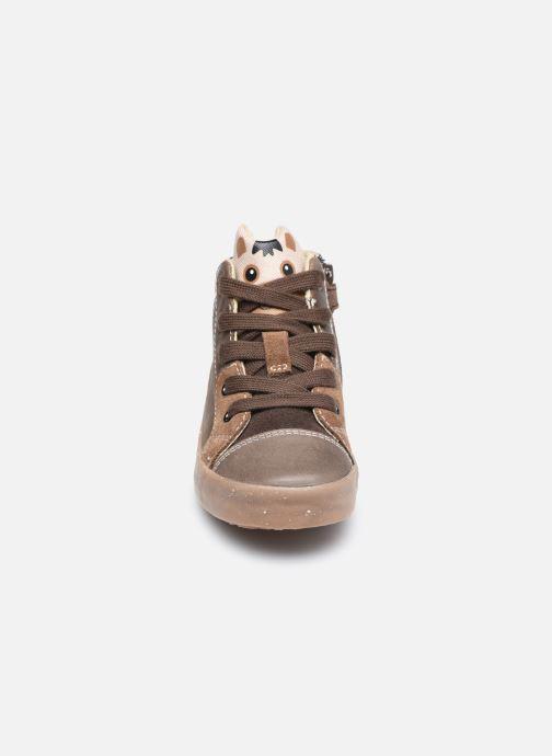 Sneaker Geox B Kilwi Boy B04A7D x WWF braun schuhe getragen