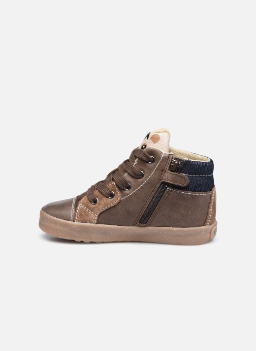 Sneaker Geox B Kilwi Boy B04A7D x WWF braun ansicht von vorne