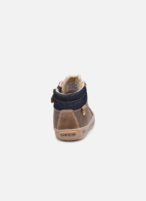 Sneaker Geox B Kilwi Boy B04A7D x WWF braun ansicht von rechts
