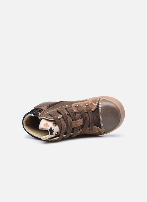 Sneaker Geox B Kilwi Boy B04A7D x WWF braun ansicht von links