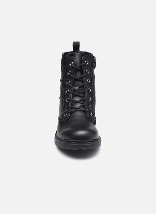 Bottes Geox J Eclair Girl J049QJ Noir vue portées chaussures