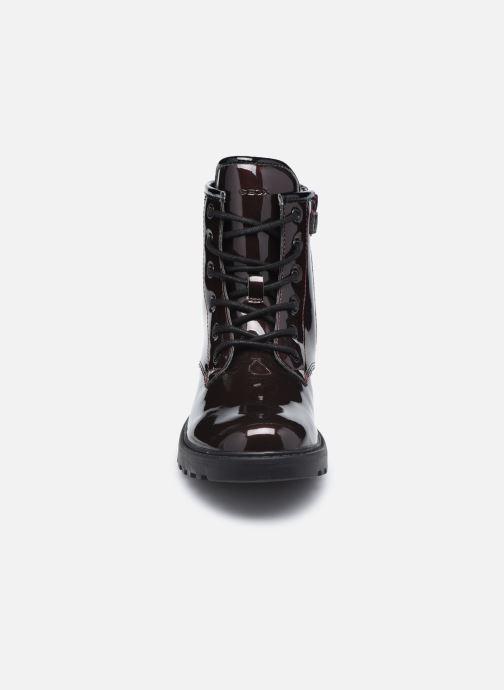 Bottines et boots Geox J Casey Girl J9420G J9420G Bordeaux vue portées chaussures