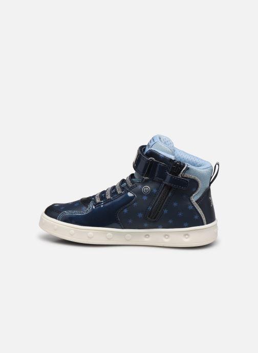 Sneakers Geox J Skylin Girl J048WB x Frozen Blå se forfra