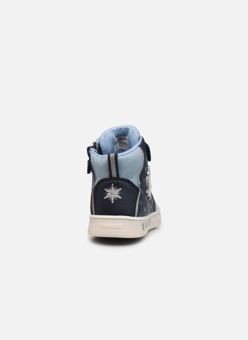 Sneakers Geox J Skylin Girl J048WB x Frozen Blå Se fra højre