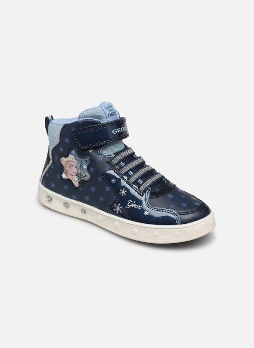 Sneakers Geox J Skylin Girl J048WB x Frozen Blå detaljeret billede af skoene