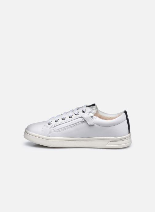 Sneaker Geox J Djrock Girl J024MH weiß ansicht von vorne