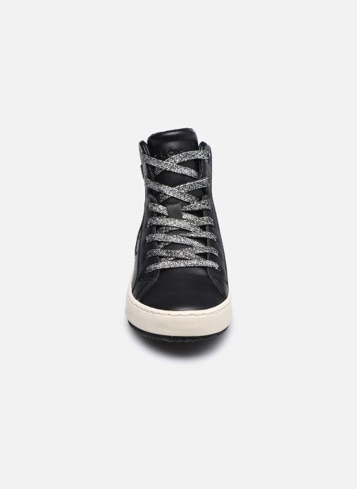 Sneaker Geox J Kalispera Girl J044GA schwarz schuhe getragen