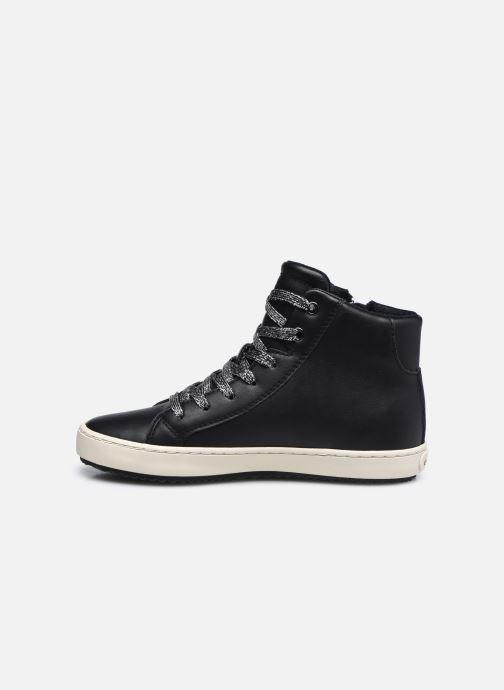 Sneaker Geox J Kalispera Girl J044GA schwarz ansicht von vorne