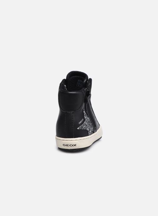 Sneaker Geox J Kalispera Girl J044GA schwarz ansicht von rechts