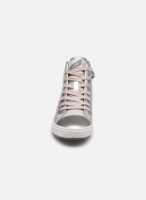 Baskets Geox J Kalispera Girl J044GD Argent vue portées chaussures