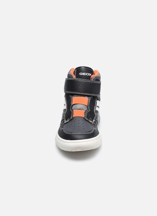 Baskets Geox J Grayjay Boy J049YD Noir vue portées chaussures