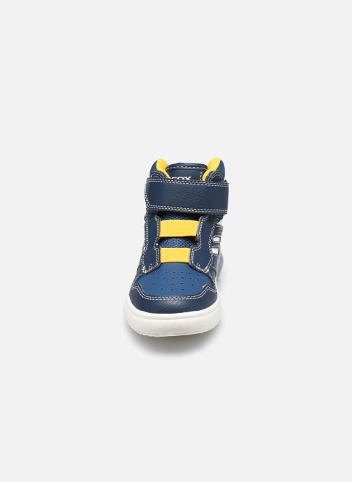 Baskets Geox J Grayjay Boy J049YD Bleu vue portées chaussures