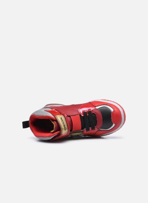 Sneaker Geox J Inek Boy J049CA rot ansicht von links