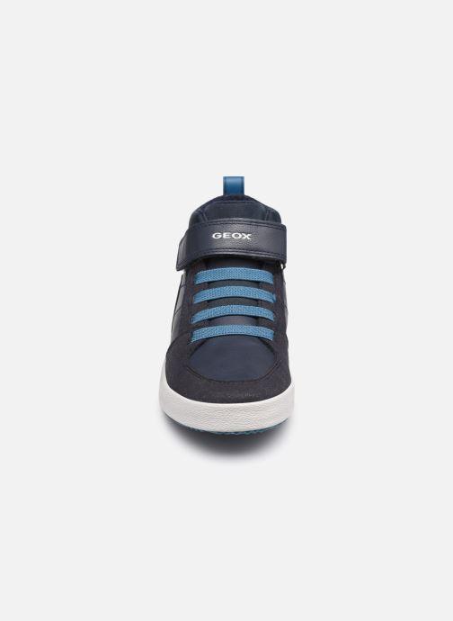 Baskets Geox J Alonisso Boy J042CA Bleu vue portées chaussures