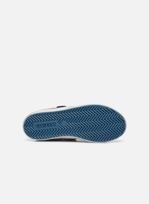 Baskets Geox J Alonisso Boy J042CA Bleu vue haut
