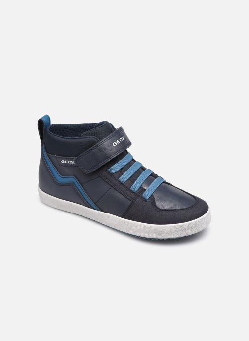 Baskets Geox J Alonisso Boy J042CA Bleu vue détail/paire