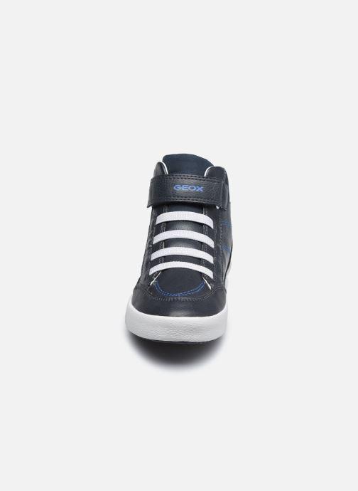 Baskets Geox J Gisli Boy J045CA Bleu vue portées chaussures