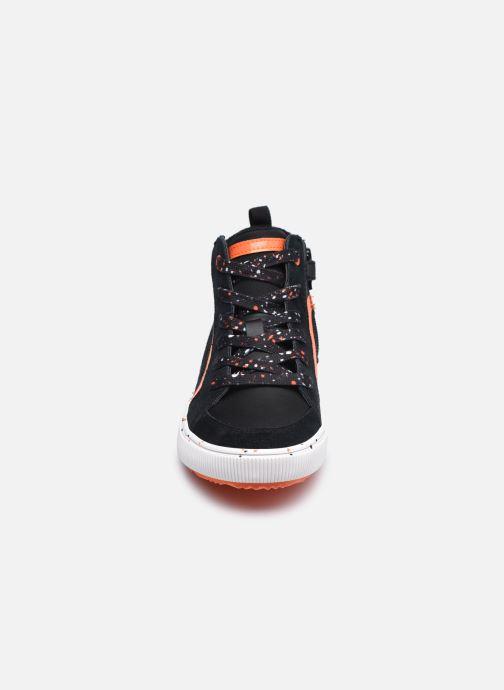 Sneaker Geox J Alonisso Boy J042CD schwarz schuhe getragen