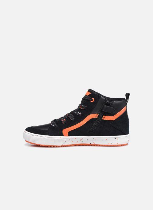 Sneaker Geox J Alonisso Boy J042CD schwarz ansicht von vorne