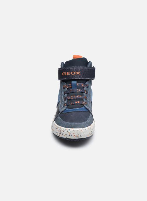 Baskets Geox J Alonisso Boy J042CC Bleu vue portées chaussures