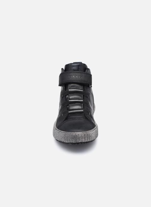 Sneaker Geox J Alonisso Boy J042CB schwarz schuhe getragen