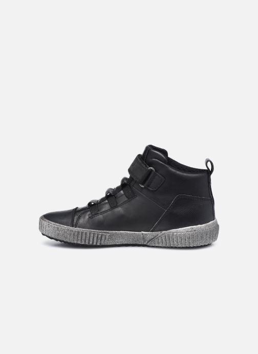 Sneaker Geox J Alonisso Boy J042CB schwarz ansicht von vorne