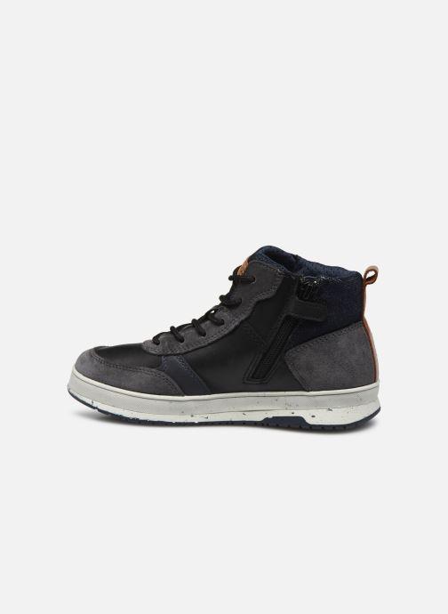 Sneaker Geox J Astuto Boy J04CXD x WWF schwarz ansicht von vorne