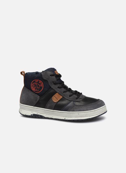 Sneaker Geox J Astuto Boy J04CXD x WWF schwarz ansicht von hinten