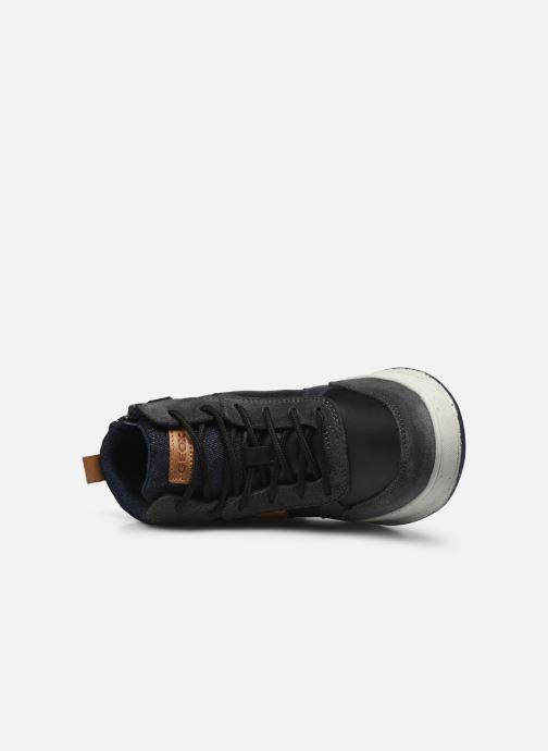 Sneaker Geox J Astuto Boy J04CXD x WWF schwarz ansicht von links