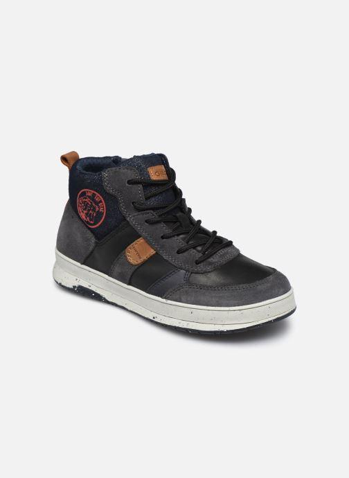 Sneaker Geox J Astuto Boy J04CXD x WWF schwarz detaillierte ansicht/modell