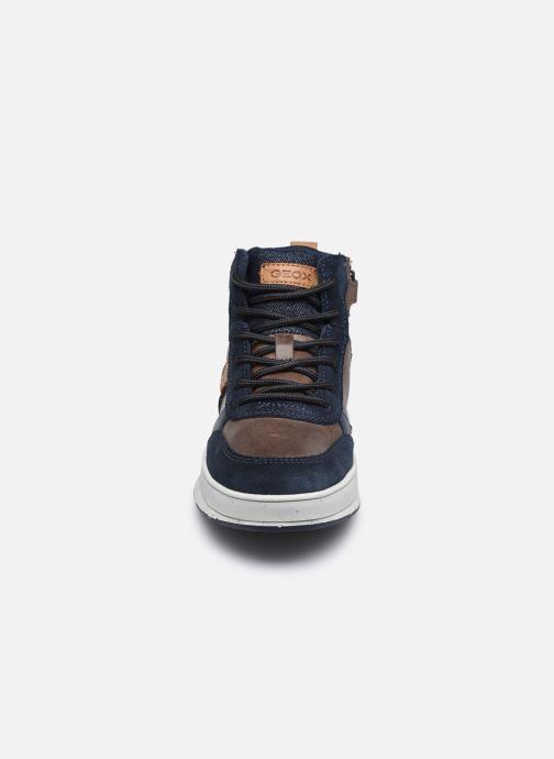 Sneaker Geox J Astuto Boy J04CXD x WWF blau schuhe getragen