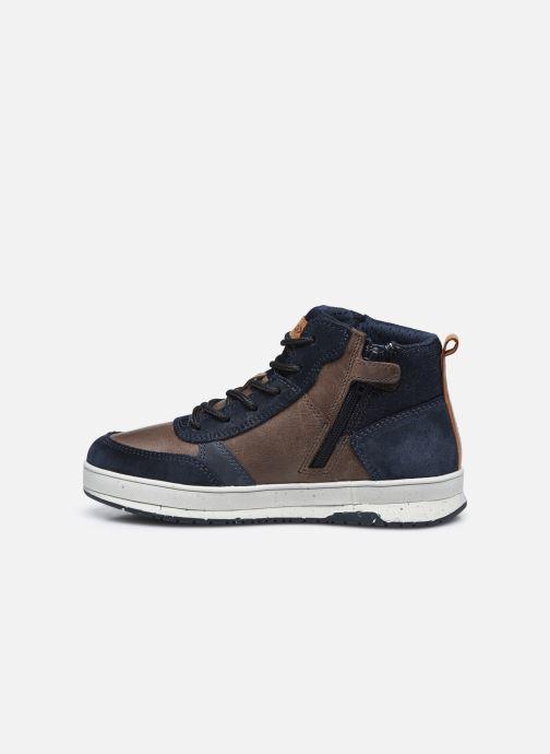 Sneaker Geox J Astuto Boy J04CXD x WWF blau ansicht von vorne