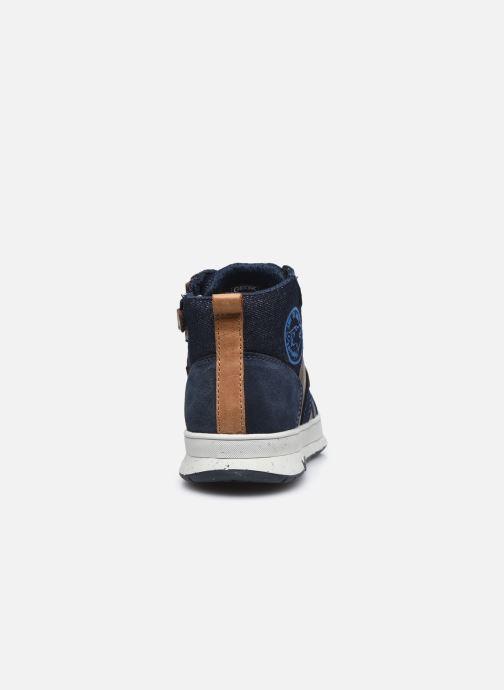 Sneaker Geox J Astuto Boy J04CXD x WWF blau ansicht von rechts