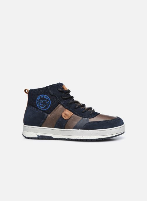 Sneaker Geox J Astuto Boy J04CXD x WWF blau ansicht von hinten