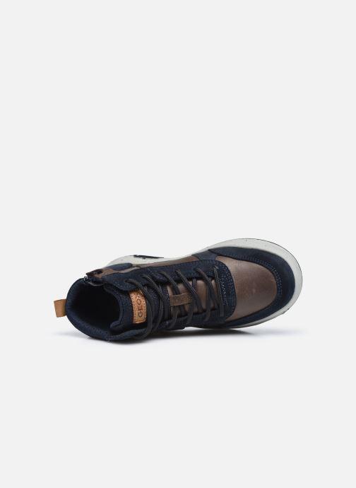 Sneaker Geox J Astuto Boy J04CXD x WWF blau ansicht von links