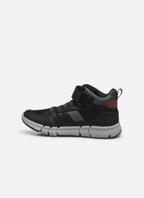 Boots en enkellaarsjes Geox J Flexyper Boy J049BB Zwart voorkant