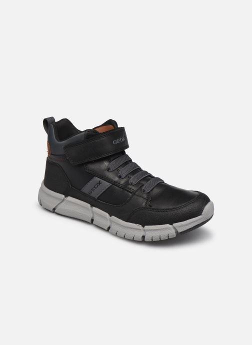 Boots en enkellaarsjes Geox J Flexyper Boy J049BB Zwart detail