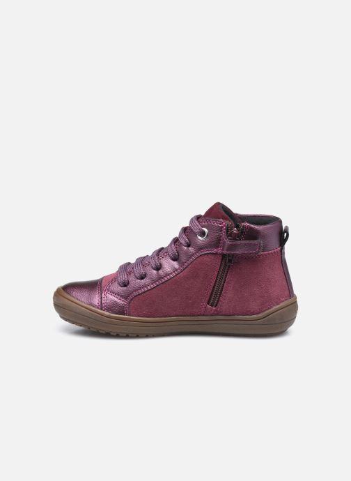 Sneakers Geox J Hadriel Girl J047VB Viola immagine frontale
