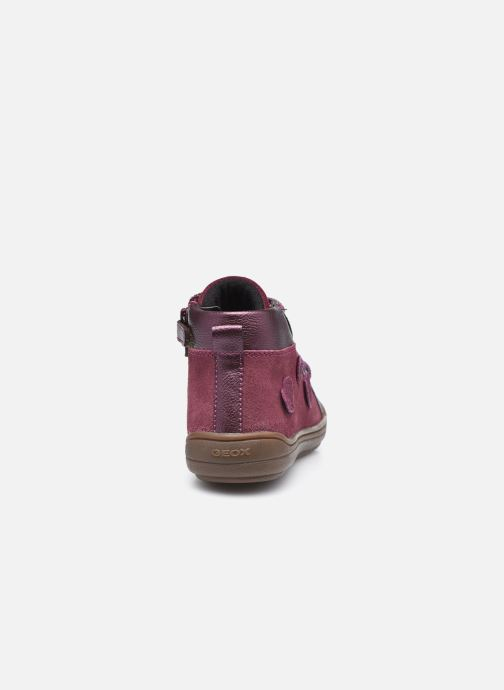 Baskets Geox J Hadriel Girl J047VB Violet vue droite