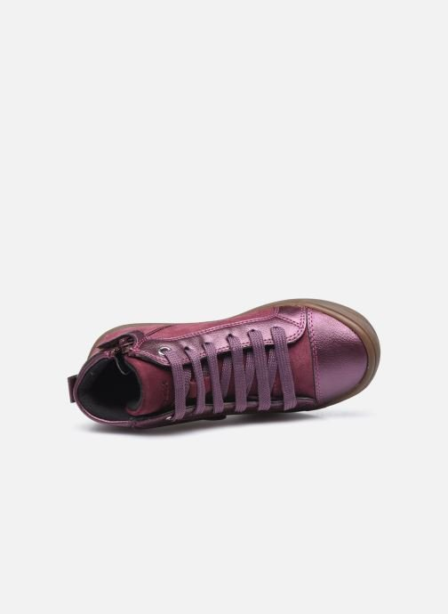 Baskets Geox J Hadriel Girl J047VB Violet vue gauche