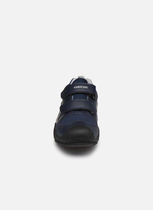 Sneaker Geox J New Savage Boy J041VA blau schuhe getragen