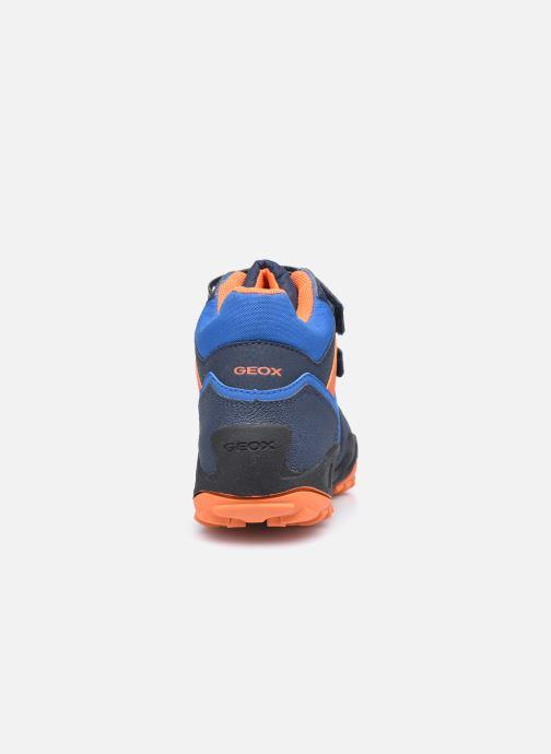 Sportschuhe Geox J New Savage Boy J04CBB WPF blau ansicht von rechts