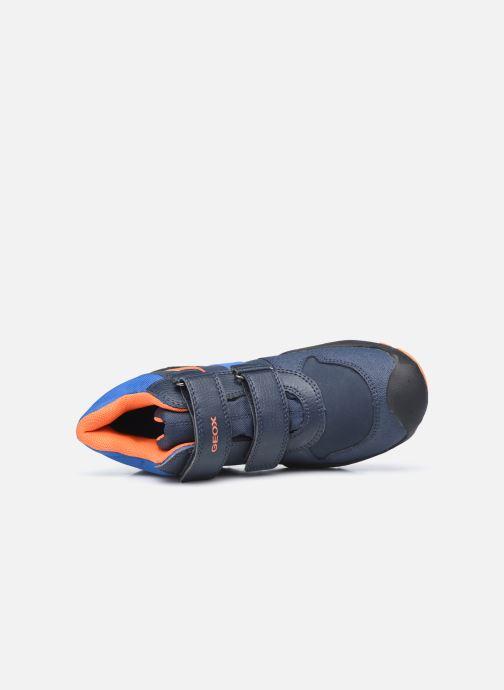 Sportschuhe Geox J New Savage Boy J04CBB WPF blau ansicht von links