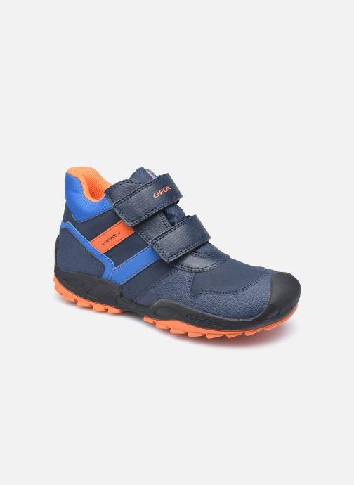 Sportschuhe Geox J New Savage Boy J04CBB WPF blau detaillierte ansicht/modell