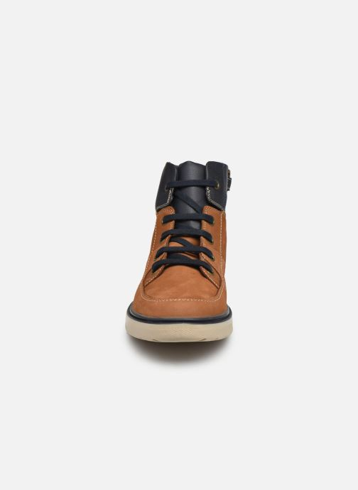 Bottines et boots Geox J Riddock Boy J047TA WPF Marron vue portées chaussures