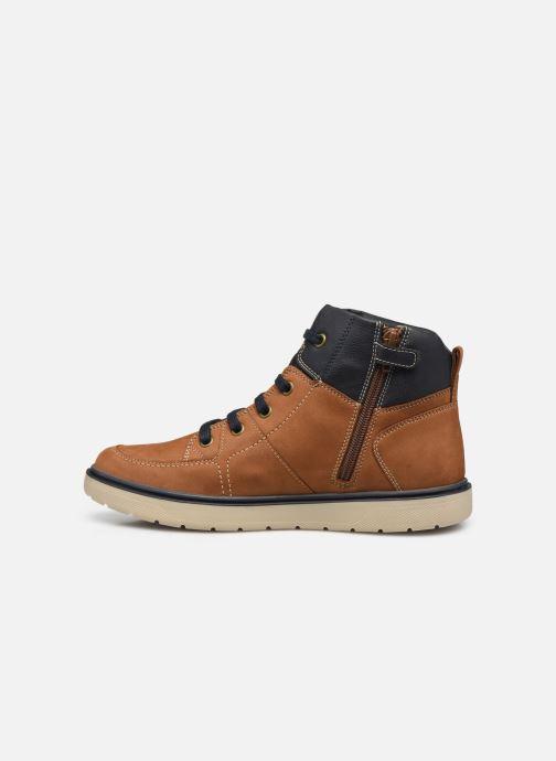 Bottines et boots Geox J Riddock Boy J047TA WPF Marron vue face