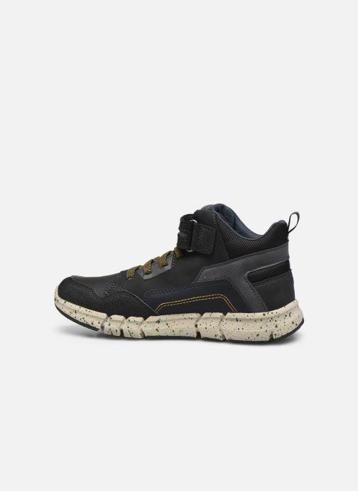 Boots en enkellaarsjes Geox J Flexyper Boy B Abx J049XB Zwart voorkant