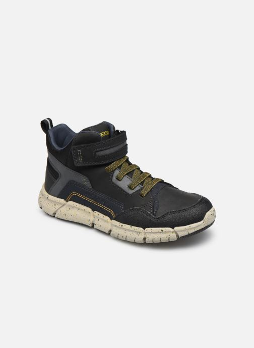 Boots en enkellaarsjes Geox J Flexyper Boy B Abx J049XB Zwart detail